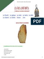 Cake Au Citron Et Aux Amandes _ Recttes Pour Enfants, Ados Et Parents