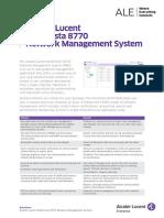 Omnivista 8770 Network Management System Datasheet En