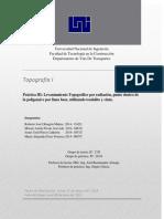 Reporte III topografia 1 - uni
