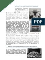 Historia Del Conservatorio y Orquesta Nacional de Guatemala