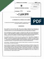 Decreto 975 Del 07 de Junio de 2018