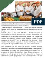 13-06-2017 Gracias Al Trabajo Conjunto Del Gobierno Estatal y Federal Se Favorece a La Transformación Del Campo Guerrerense.