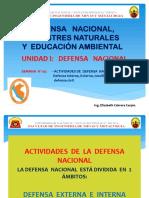 Actividades Defensa Nacional