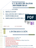 Tema 5. Bases de Datos Distribuidas