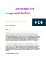 digital communications assignment booklet