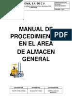Manual de Procedimientos Del Area de Bodega (MPA)
