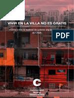 Informe de la situación de inquilinos en villas de la Ciudad