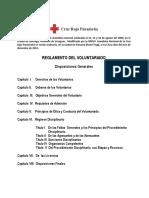 Reglamento Del Voluntario Cruz Roja