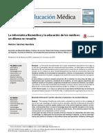 Informatica Biomedica en La Formacion Medica