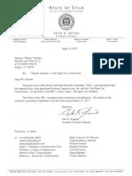 Libertas vs Utah Department of Revenue Documents