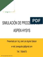 Presentacion - Introducción Aspen HYSYS