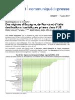 Eurostat Tourisme Regions Populaires 201707
