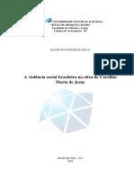 A Violência Social Brasileira Na Obra de Carolina Maria de Jesus