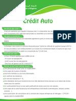Fiche Credit Auto