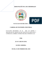 Evaluacion Del Riesgo Ergonomico Mediante Metodo Rula