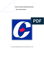 Conservative Party of Canada - Candidate Nomination Rules