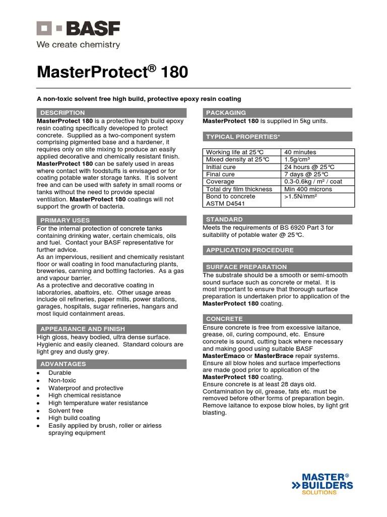 Basf Masterprotect 180 Tds | Epoxy (55 views)