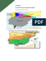 Mapa Lingüístico Sobre El Desarrollo de La Reconquista Del Español