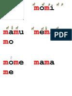 Palabras Con La m