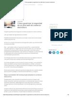 Cómo Garantizar La Seguridad de Un Sitio Web de Comercio Electrónico