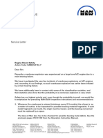 Bearing Failure Service Letter