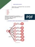 ANALIZADOR LEXICO. Implementar en Visual C#, Un Analizador Léxico Que Permita Reconocer Las Palabras Reservadas