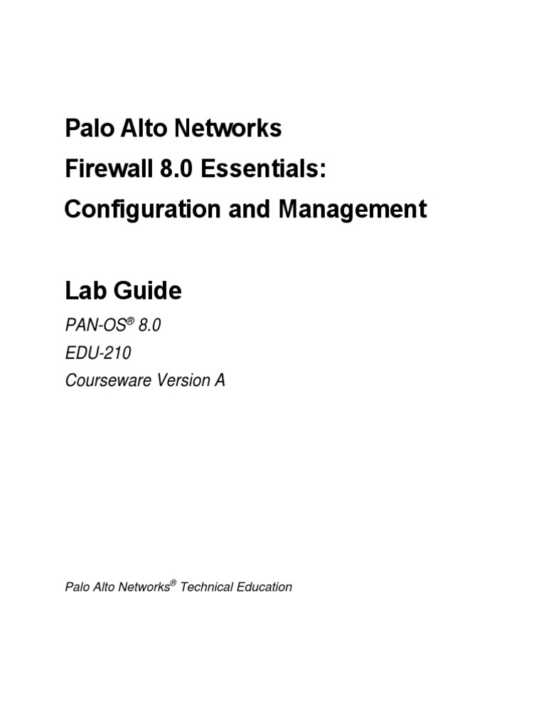 EDU 210 80a Lab Guide | Router (Computing) | Computer Network