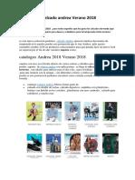 Catalogos  Andrea 2018 ofertas de moda