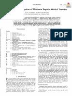 1. Numerical Investigation of Minimum Impulse Orbital Transfer