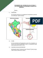 Ampliación y Mejoramiento Del Sistema de Agua Potable y Alcantarillado de Chuquibamba