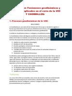 Informe Sobre Fenómenos Geodinámicas y Diagénesis Aplicados en El Cerro de La UNI Y CHORRILLOS