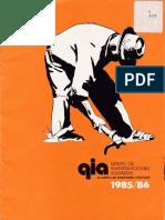 Grupo de Investigaciones Agrarias 1985-86