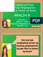 Aralin 8 Mga Mungkahing Paraan Ng Wastong Pangangasiwa Ng Likas Na Yaman Ng Bansa-MELLY G. VILLAS-MALANDAY ELEMENTARY SCHOOL-MARIKINA CITY