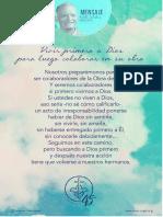 P. Dávila (Vivir Primero a Dios Para Luego Colaborar en Su Obra)