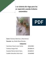 Diseño de Un Sistema de Riego Para Las Plantas Por Aspersión Usando Arduino Automático