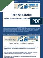 Tenants in Common 1031 Exchange basics