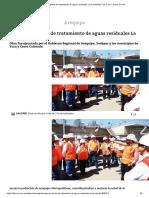 Inauguran Planta de Tratamiento de Aguas Residuales La Escalerilla _ Foto 1 de 2 _ Diario Correo