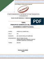 MONOGRAFÍA - Principios Generales Del Régimen Economíco Constituciónal