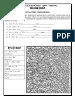Multiplicación Con Polinomios (Puzzle Para Colorear)
