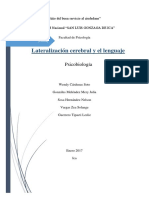 Lateralizacion Cerebral y El Lenguaje Imprimir