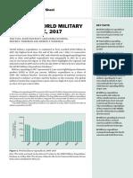Gasto militar mundial 2017 - Informe SIPRI