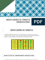 Modificadores de Conducta Organizacional