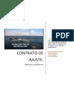 Contrato de Ajuste DERECHO DE LA NAVEGACION
