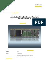 En Application Note EPLAN Macros V05