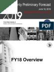 Cook County FY 2019 Budget Presentation Preliminary Forecast