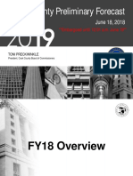 Cook County FY 2019 Budget Presentation Preliminary Forecast
