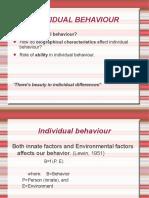 Individual Behaviour