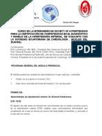 CURSO DE LA INTERAMERICAN SOCIETY OF HYPERTENSION - TEMARIO