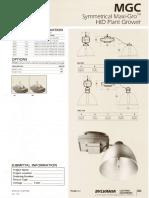 Sylvania MGC Symmetrical Maxi-Gro HID Plant Grower Spec Sheet 5-80