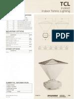 Sylvania TCL Indirect Indoor Tennis Lighting Spec Sheet 5-80